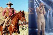 comparazione di virilità tra John Wayne e Achille Lauro