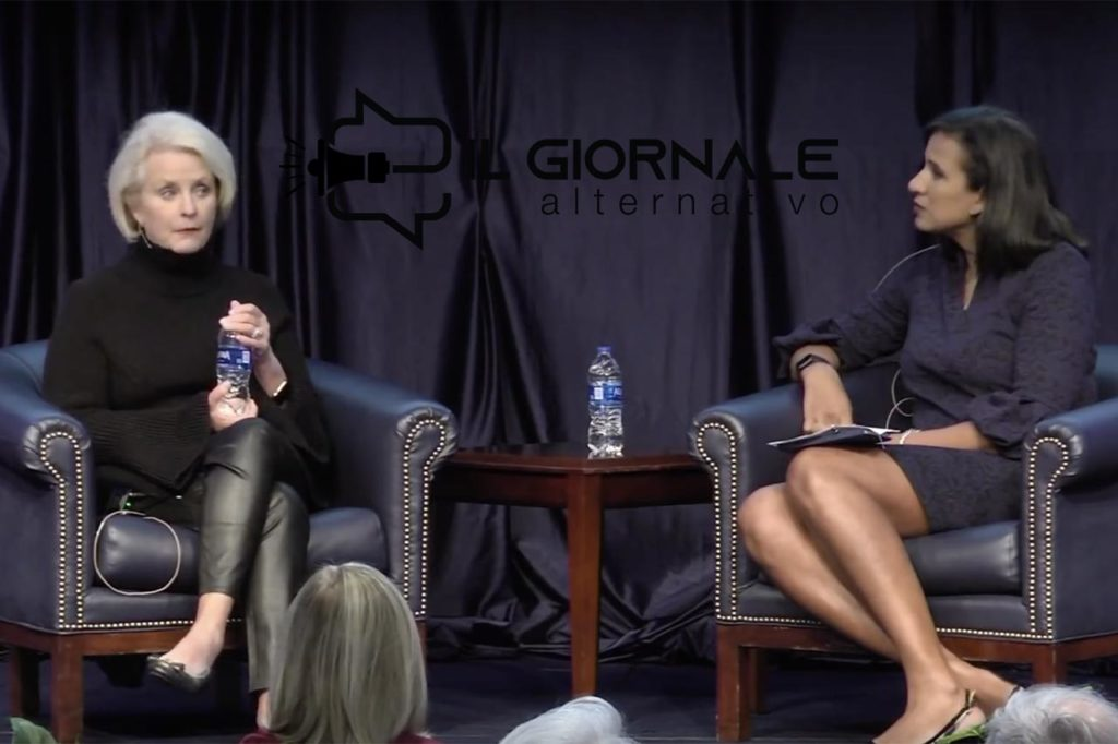 Cindy McCain parla di Epstein alla conferenza State of the World 2020 in Florida