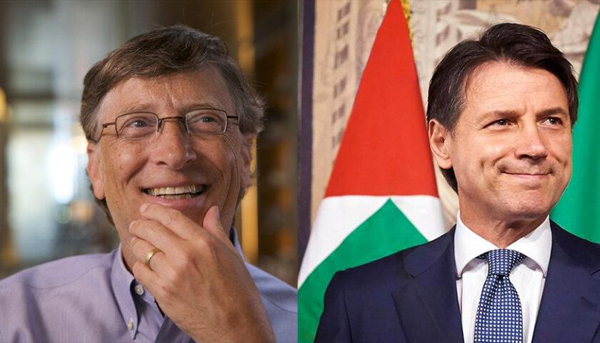 Bill Gates e Conte hanno parlato in videoconferenza