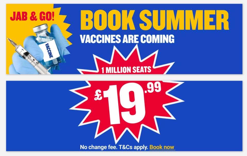 """Vaccini COVID-19, la promozione di Ryanair """"Jab & Go"""""""