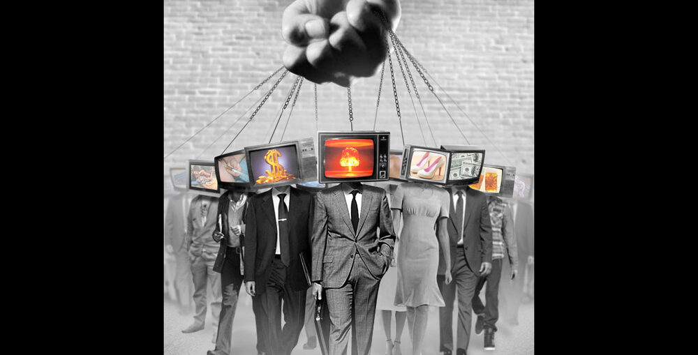 La manipolazione di massa raffigurata in un'immagine