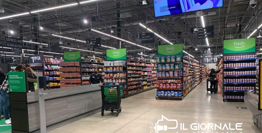 Amazon, il primo supermarket senza casse in Europa